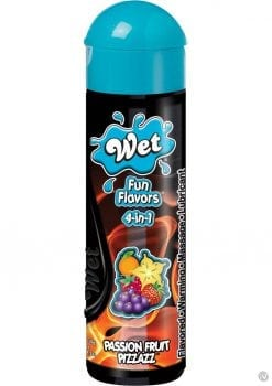Wet Fun Flavors 4 In 1 Warming Water Based Lubricant Passion Fruit Pizzazz 4.1 Ounce