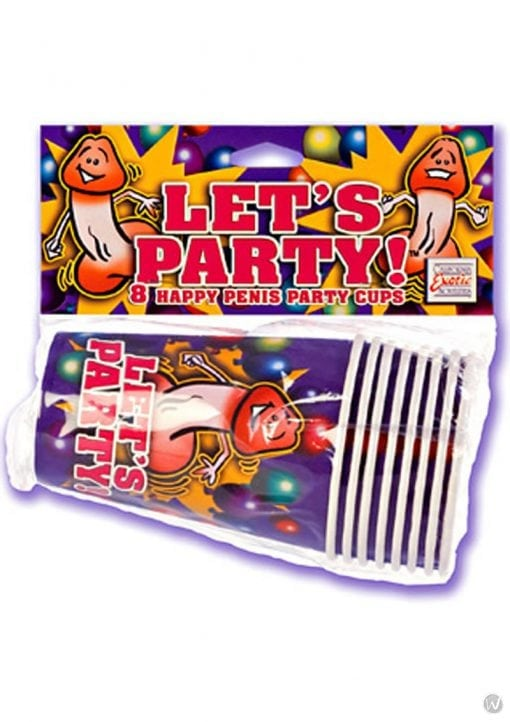 Lets Party 8 Happy Penis Party Cups