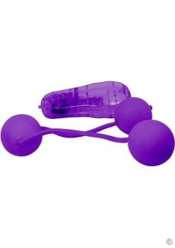 Real Skin Vibrating Ben Wa Balls Purple