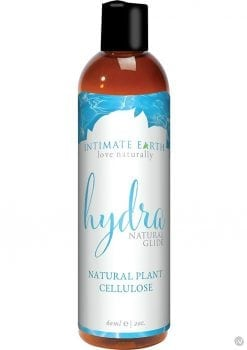 Intimate Earth Hydra Natural Glide Water Based Natural Plant Cellulose Lube 2 Ounce