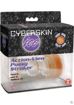 Cyberskin Ice Action View Pussy Stroker Waterproof