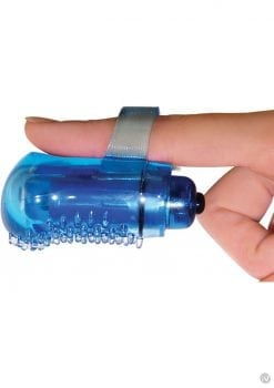 The Fing Os Fun Finger Vibe Silicone Waterproof 6 Per Display Tingly Only Blue