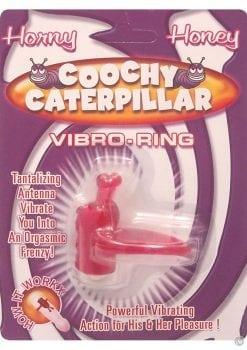 Horny Honey Coochy Caterpillar Vibro Cock Ring Magenta