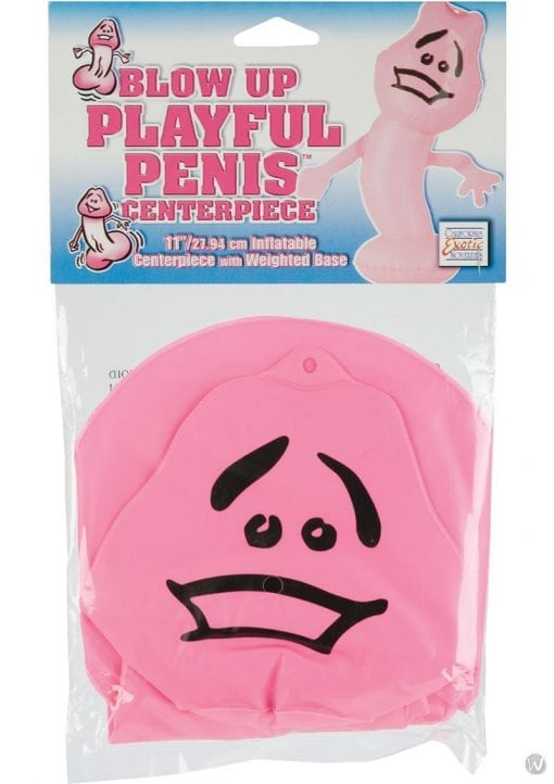 Blow Up Playful Penis Centerpriece with Weighted Base 11 Inch