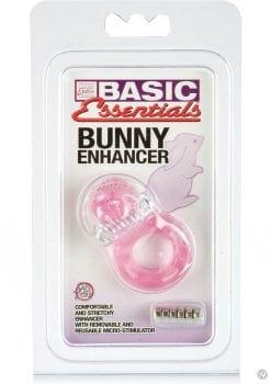 Basic Essentials Bunny Enhancer With Removable Stimulator Pink