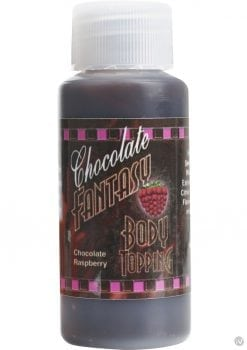 Chocolate Fantasy Body Topping Chocolate Raspberry 1 Ounce