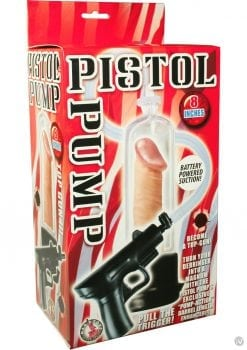 Pistol Pump Battery Operated 8 Inch Clear