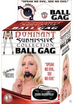 Dominant Submissive Ball Gag Black