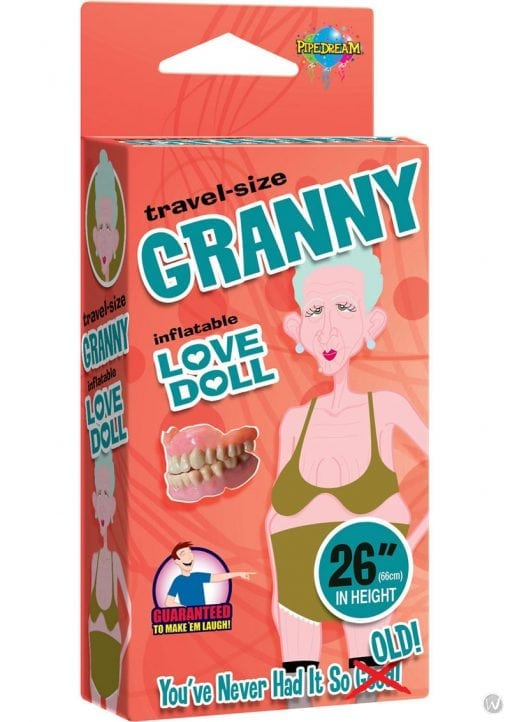Granny Inflatable Love Doll Travel Size