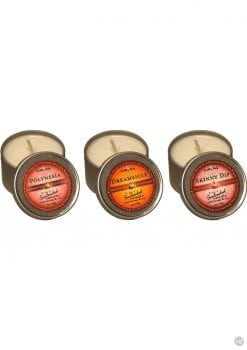 Massage Candle Trio 3 In 1 Suntoched Round Massage Oil Candles 3 Per Bag