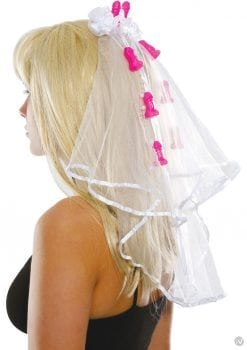 Bachelorette Party Favors Pecker Clip Veil