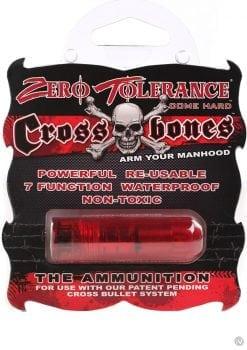 Zero Tolerance Cross Bones The Ammunition Bullet Waterproof Red