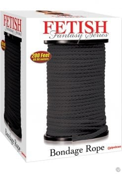 Fetish Fantasy Series Bondage Rope 200 Feet Black