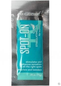 Spot On G Spot Stimulating Gel For Women Foil Packs 100 Per Bowl