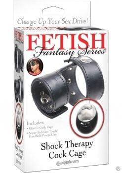 Fetish Fantasy Shock Therapy Cock Cage Black