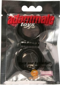Adammale Toys Cock And Ball Infinity Vibrating Ring Black