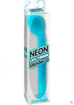 Neon Luv Touch Slender G Vibrator Waterproof 7.25 Inch Blue