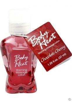 Body Heat Edible Warming Massage Lotion Chocolate Cherry 1.25 Ounce
