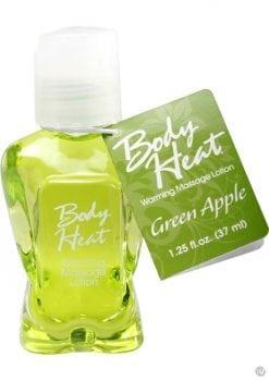 Body Heat Edible Warming Massage Lotion Green Apple 1.25 Ounce