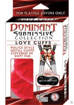 Dominant Submissive Love Cuffs Red