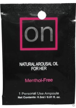 On Natural Arousal Oil For Her Tower Foil Packs 40 Piece Counter Display