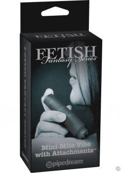 Fetish Fantasy Series Limited Edition Mini Mite Vibe With Attachments Waterproof Black