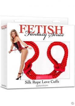 Fetish Fantasy Silk Rope Love Cuffs Red