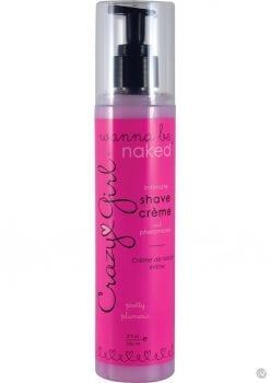 Crazy Girl Wanna Be Naked Intimate Shave Cream With Sex Attractant Pretty Plumeria 8 Ounce