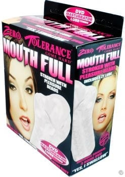 Zero Tolerance Mouth Full Stroker with Pleasure Beads Clear