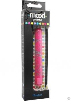 Mood Powerful 7 Function Large Bullet Waterproof 5 Inch Pink