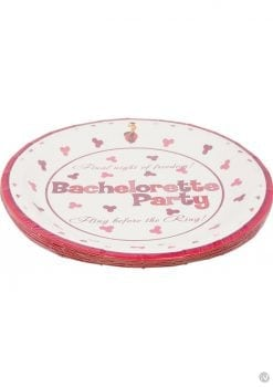 Bachelorette Party 10 Inch Plates 10 Per Pack