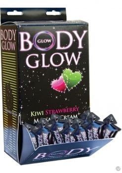 Body Glow Massage Cream Kiwi Strawberry 50 Pillows Per Display