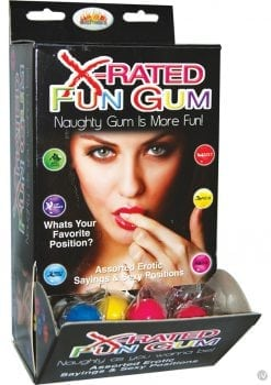 Xrated Fun Gum Counter Display Assorted 90 Each Per Display