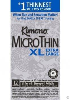 Kimono Microthin Xl Condoms 12pk