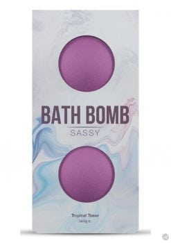 Dona Sassy Fragrance Bath Bomb Tropical Tease 2 Per Box