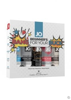 Bang For Your Buck Set Lubricant Kit 5 Each Assorted 1 Ounce Bottles Per Box
