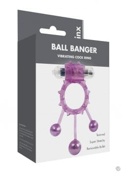 Linx Ball Banger Cock Rings Purple Os