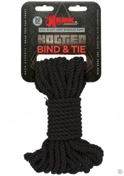 Kink Hogtied Bind And Tie 6mm 30` Black