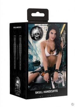 Ouch Sandb Handcuffs With Skulls Black