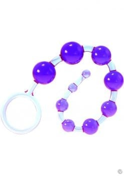 Kinx Dragonz Tail Anal Beads Violet Os