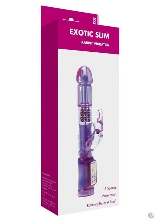 Minx Exotic Slim Rabbit Vibe Purple Os