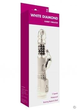 Minx White Diamond Rabbit Vibrator Os