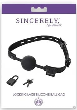 Sincerely Locking Lace Silicone Ball Gag