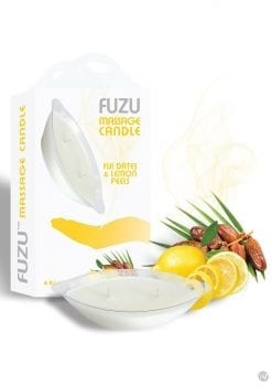 Fuzu Massage Candle Fiji Dates and Lemon Peels Vegan Friendly 4 Ounce