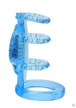 Doctor Love`s Zinger Vibrating Cock Cage Blue