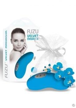 Fuzu Velvet Palm Massager Neon Blue