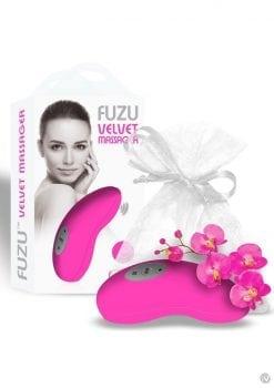 Fuzu Velvet Palm Massager Neon Pink
