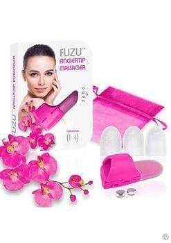 Fuzu Silicone Fingertip Massager With Textured Tips Pink