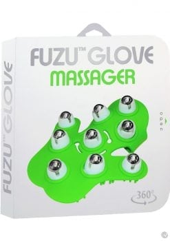 Glove Massager  360 degree rolling balls  Length 6 Inches  Green