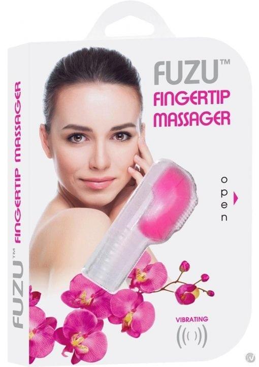 Fuzu Fingertip Massager Silicone Waterproof Neon Pink